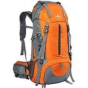 Loowoko Hiking Backpack, 50L Waterproof Travel Backpack Trekking Rucksack Mountaineering Backpack with Rain Cover for…
