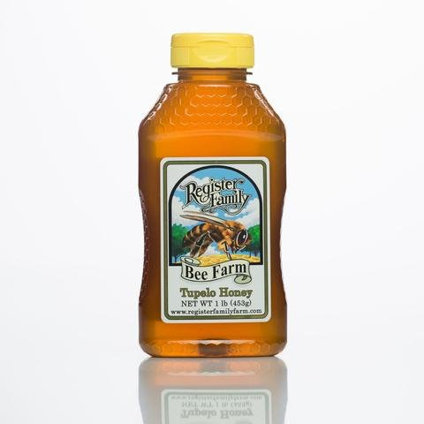 Premium Raw Tupelo Honey 16 oz. Squeeze Bottle, Loy Glycemic, Long Shelf Life