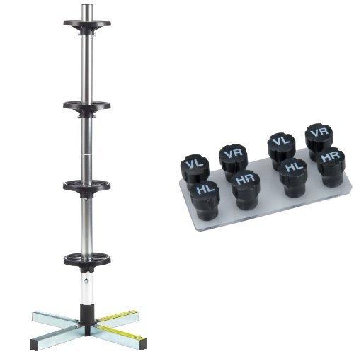 Cartrend 7730056 Felgenstä nder mit Reifenschutzhü lle, bis 225 mm Reifenbreite und Unitec 84736 Radmerkerset, 8-teilig