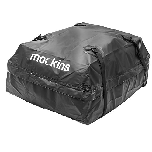 mockins Waterproof Cargo Roof Bag | The Roof Top Cargo Bag Is Made From Heavy Duty Abrasion Resistant Vinyl And Is 44'' Long X 34'' Wide X 18'' High Giving You 15 Cu.ft.capacity by mockins