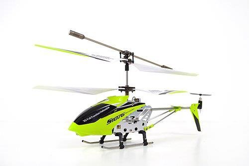 A Set of 2 Brand New Genuine Syma S107G 3 Channels Mini Indoor Co-axial Metal Body Frame & Built-in Gyroscope Rc Remote Controlled Helicopters (1) Blue and (1) Green with 2 AC Chargers