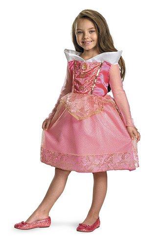 Aurora Sparkle Classic Girls Princess Costumes (Child Small (4-6) Disney Aurora Classic Costume)