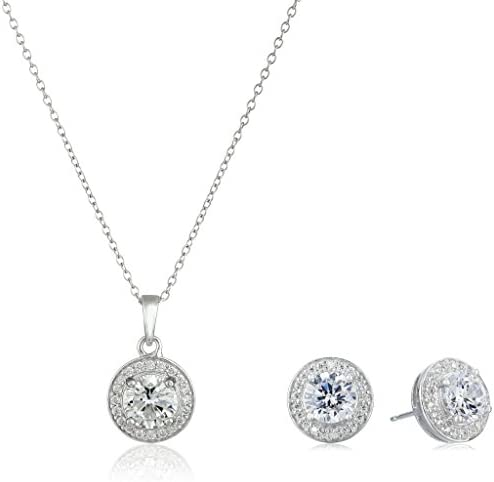 Amazon Collection Sterling Silver Cubic Zirconia...