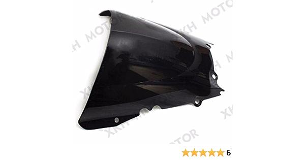 SMT-Dark Smoke Windscreen Windshield Compatible With Yamaha Yzf R6 1998-2002 1999 2000 2001 2002 B00RUDYAME