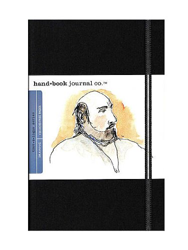 Hand Book Journal Co. Travelogue Drawing Journals 5 1/2 in. x 8 1/4 in. portrait ivory black [PACK OF 2 ] by Hand Book Journal Co.
