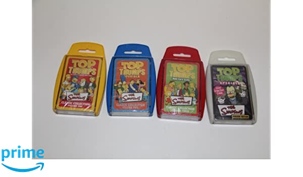 Simpsons Horror Top Trumps card game