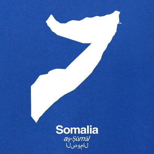 Somalia / Bundesrepublik Somalia Silhouette - Herren T-Shirt - Royalblau - M