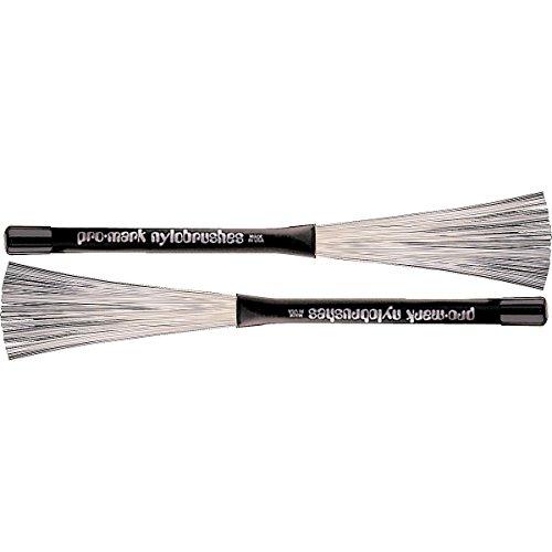 Promark B600 Nylo-Brush Nylon-Bristle Retractable Brushes-(1 pair)