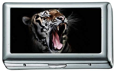 Tiger Open Mouth 55 Cigarette Case/Box, Credit Card Case for Women Men