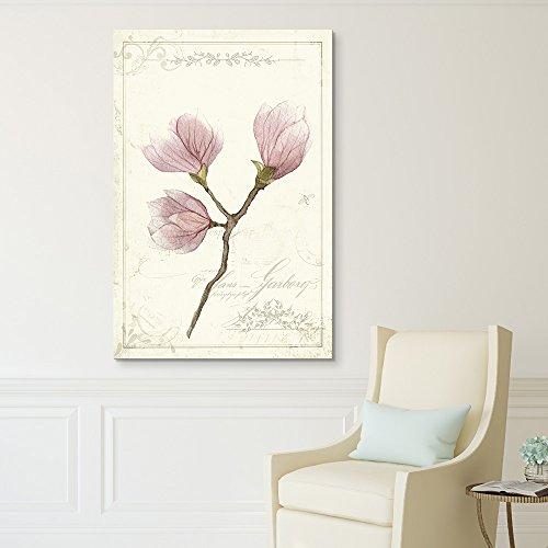 Vintage Style Purple Magnolia Flowers