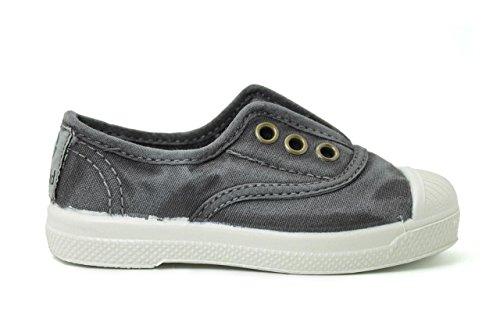 Natural World 470 Lace Shoe Kinder Grau