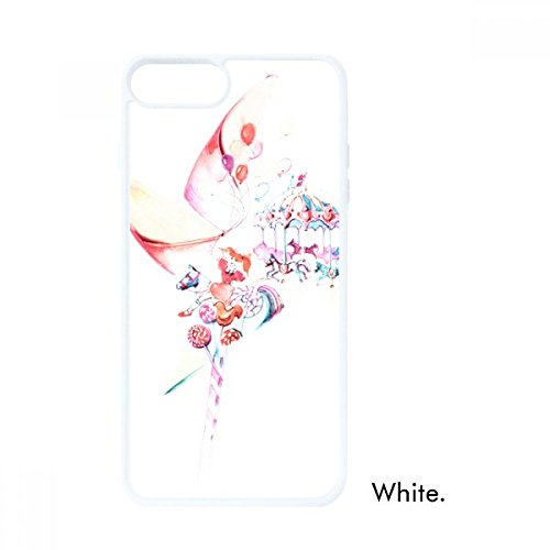 Carousel Windmill Lollipop Watercolor Painting For iPhone 7/8 Cases White Phonecase Apple Cover Case Gift (Windmill Watercolor)
