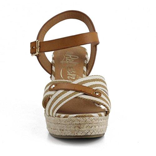 Chaussures compensées pour Femme REFRESH 62088 TEX TAUPE