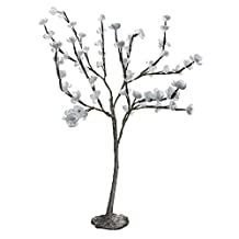 Paradise 21726WH Outdoor Lighting 60-Light LED Blossom Tree, 2-Feet Tall