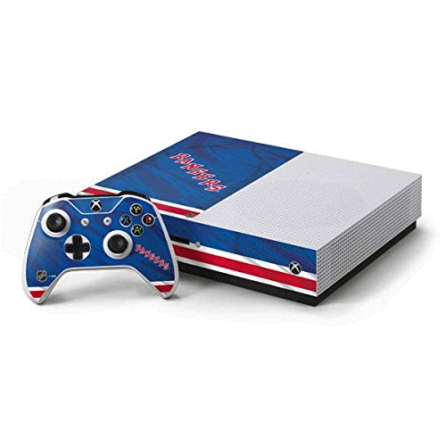 New York Rangers Xbox One S Console and Controller Bundle Skin - New York Rangers Home Jersey | NHL & Skinit ()