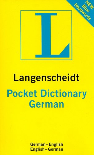 Langenscheidt Pocket German Dictionary: German-english/ English-german (Langenscheidt Pocket Dictionary) (English and German Edition)