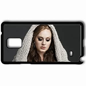 Personalized Samsung Note 4 Cell phone Case/Cover Skin Adele Girl Jacket Hair Eye Lash Black