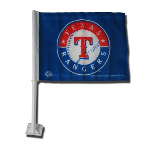 MLB Texas Rangers Car Flag -