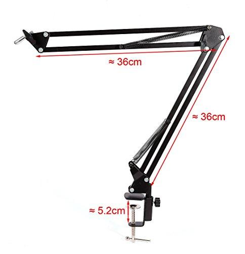 Webcam Mount Desk Clamp Suspension Boom Arm Stand Holder for Logitech Brio 4K, C925e,C922x,C930e Webcam by AceTaken (Image #2)
