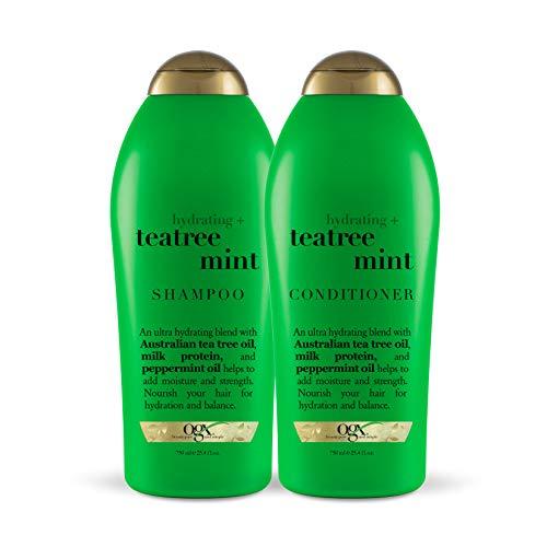 OGX Hydrating + Tea Tree Mint Shampoo & Conditioner, 25.4 Ounce (Set of 2)