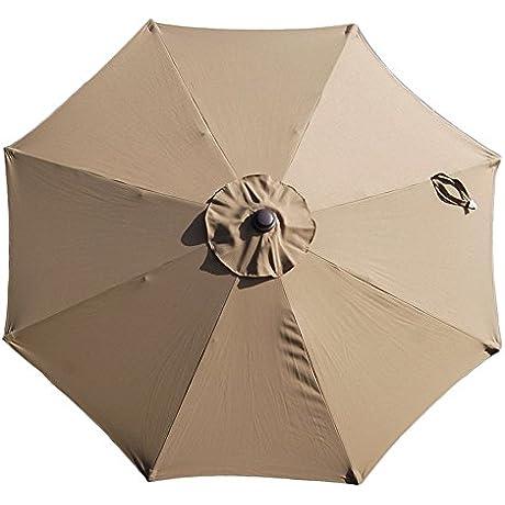 Cabo Auto Open 9 Ft Octagonal Market Umbrella In Stone Olefin