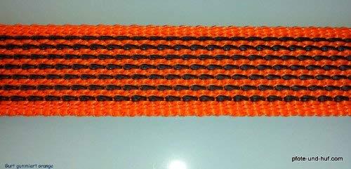 elropet Guinzaglio gommato per Cani 15 m Arancione con Cinghia da Polso