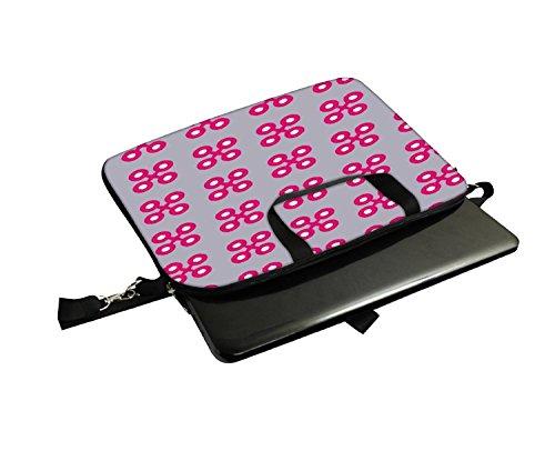 Snoogg Rosa Kreuz Laptop Netbook Computer Tablet PC Schulter Case mit Sleeve Tasche Halter für Apple iPad/HP TouchPad Mini 210/Acer Aspire One und die meisten 24,6cm 25,4cm 25,7cm 25,9cm Zoll Netb