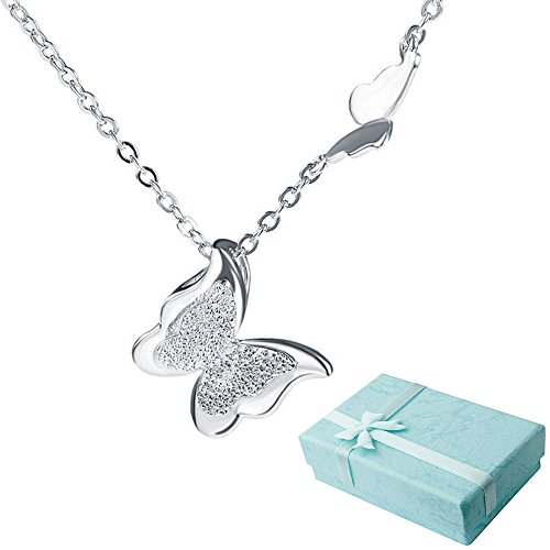 Acxico Tridimensional Butterfly Sterling Necklace
