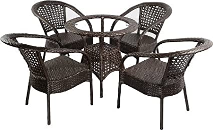 Virasat Outdoor Furniture 4 Chair and 1 Table Set