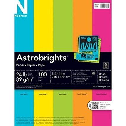 Astrobrights Paper 24 Lb 8.5u0026quot; X 11u0026quot; ...