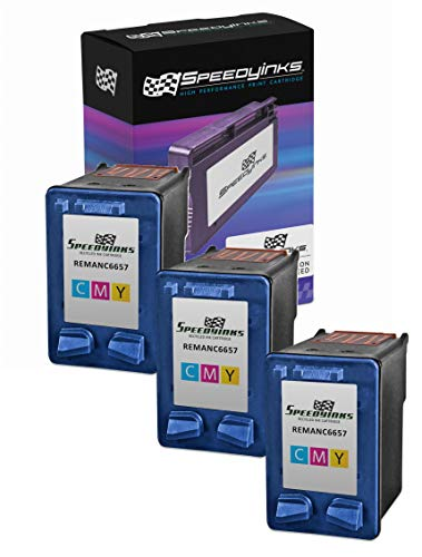 Speedy Inks Remanufactured Ink Cartridge Replacement for HP 57 (Tri-Color, 3-Pack) (Color Cartridge Printer 57 Hp)