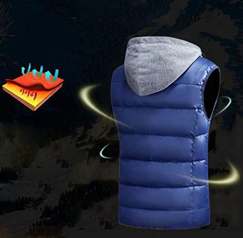 ZJEXJJ ZJEXJJ ZJEXJJ da da da da Uomo Scuro Blu l'autunno Gilet Colore l'inverno XL e Addensato Corto Dimensioni per Caldo Gilet fpfgT