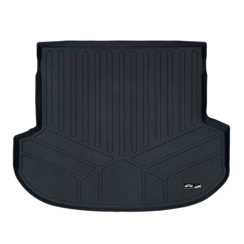 MAX LINER D0411 All Weather Custom Fit Cargo Liner Trunk Floor Mat Black for 2019 Hyundai Santa Fe 5 Passenger Models