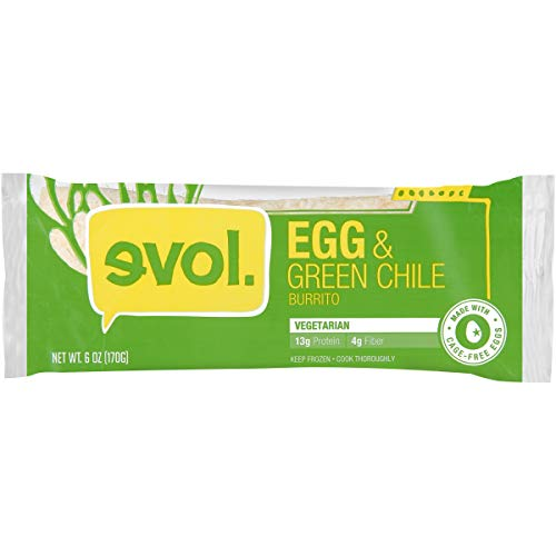 EVOL Egg and Green Chile Burrito, 13 Grams of Protein Per Serving, 6 Ounce (Frozen) ()
