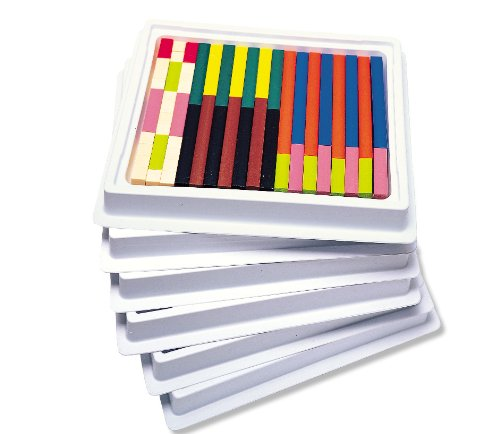 Learning Resources Cuisenaire Rods Multi-Pack: Plastic Rods, 6 Sets of 74 (Rods Set Plastic)