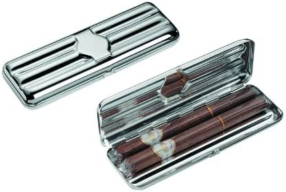 Tartan Trader - Estuche plateado para 3 puros: Amazon.es: Hogar