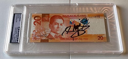 Manny Pacquiao PACMAN Signed 20 Peso Dollar Bill Philippines Money (A) - (Pesos Bill)