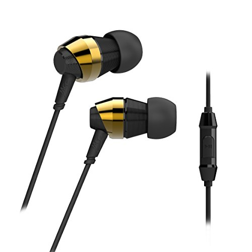 MEE audio M-Duo Dual Dynamic Driver In-Ear Headphone with Inline Microphone and Remote, Gold