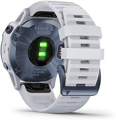 Garmin Fenix 6 Pro Solar Smartwatch Steinweiß Elektronik