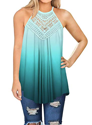 Ladies Tank Tops Loose Fit Juniors Summer Tops Loose Clothes Women Green S