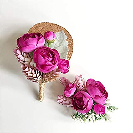 Amazon Lovgrace Wrist Corsage Wedding Silk Flowers Artificial