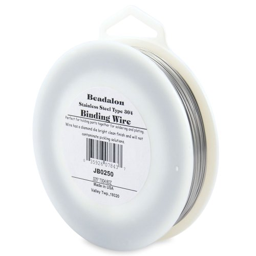 Beadalon Binding Wire .025-Inch T304 Stainless Steel, 0.8-Ounce (0.2 Mm Wire)