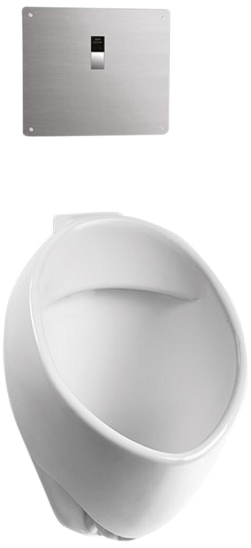 Toto UT105UVG#01 Commercial Washout High-Efficiency Urinal, 1/8-GPF-ADA-SanaGloss, Cotton