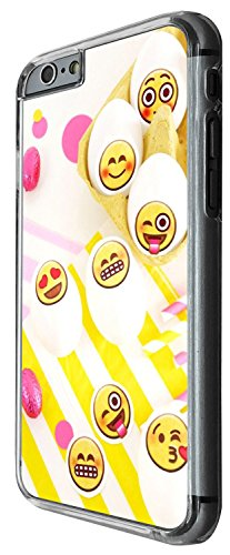 1306 - Cool Fun Trendy cute kwaii colourful emoji apps emoticons hearts smiley face funny (8) Design iphone 5C Coque Fashion Trend Case Coque Protection Cover plastique et métal - Clear