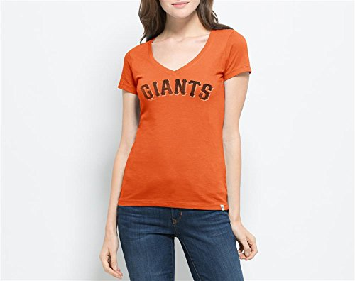 '47 MLB San Francisco Giants Women's Flanker MVP V-Neck Tee, Large, Carrot