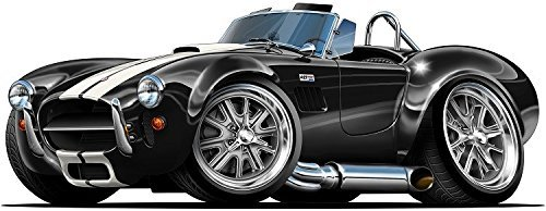 (Duck 66 427 Cobra WALL DECAL 2ft long Car Sport Classic Graphic Sticker Man Cave Garage Boys Room Decor )