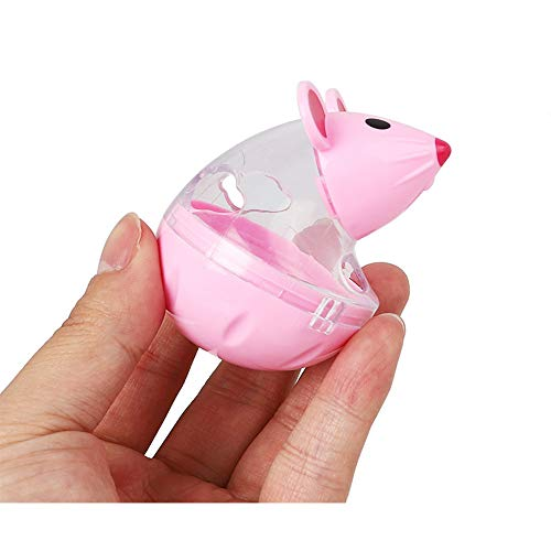 Glumes Interactive Dog Toy - Rat Shape Food Dispenser Ball Toy for Small Medium Large Dogs Durable Chew Ball - Boredom Puzzle Toys Food Slow Feeder Tumbler IQ Treat Ball - Easy to Clean by Glumes (Image #3)