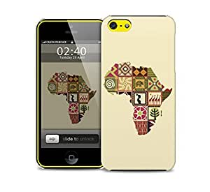 artistic african map iPhone 5c protective phone case