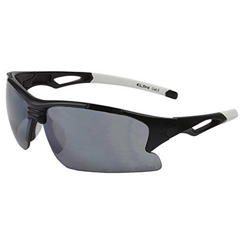 Eltin ovale lunettes sport unisexe adulte noir/blanc
