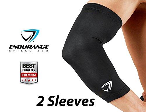 Endurance Shield 360 Compression Elbow Sleeve (2 pcs) - Large - Black
